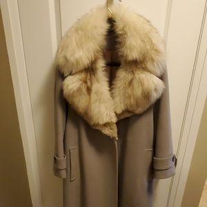 Vintage wool coat w/ fur